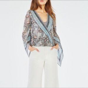 BCBGMaxAzria Kasia Handkerchief Blouse M